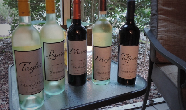 bridesmaid wines