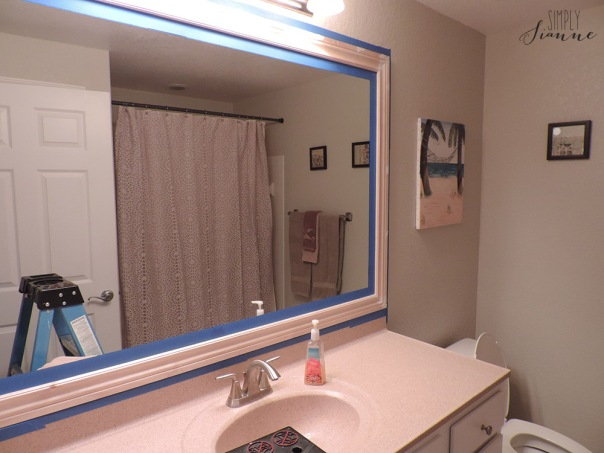 frame mirror with tape