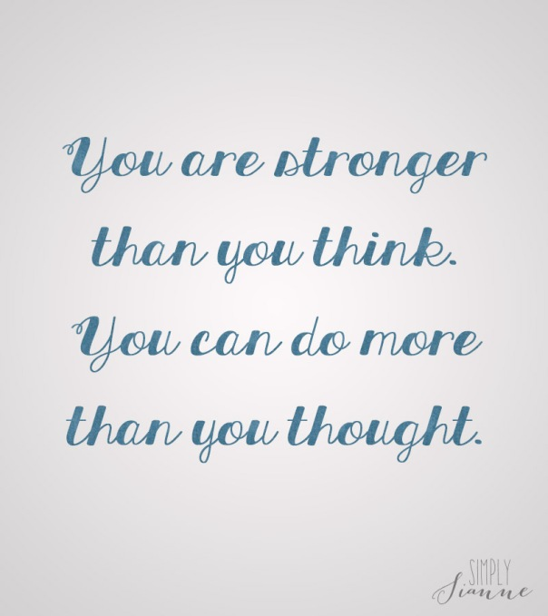 Youre Stronger Than You Think Simply Sianne Marketing Brand