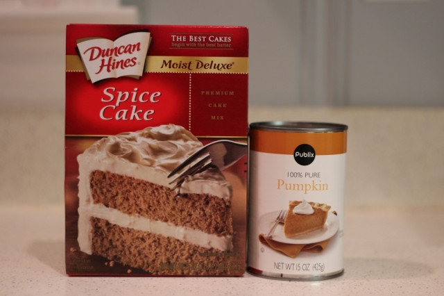 Spice Cake Mix and Pumpkin