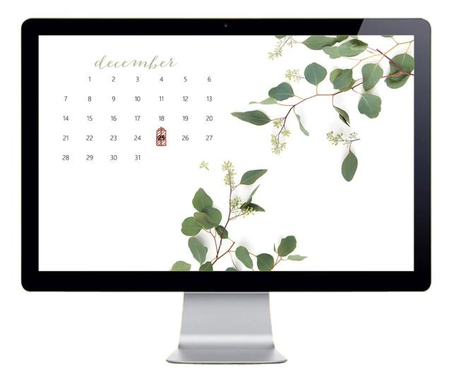 December Desktop Wallpaper Mockup