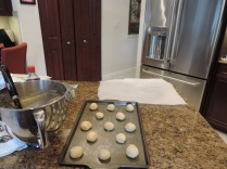 Bake at 350 degrees until cookies are set and bottoms are lightly browned