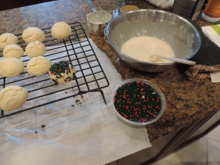 Mix ingredients for frosting