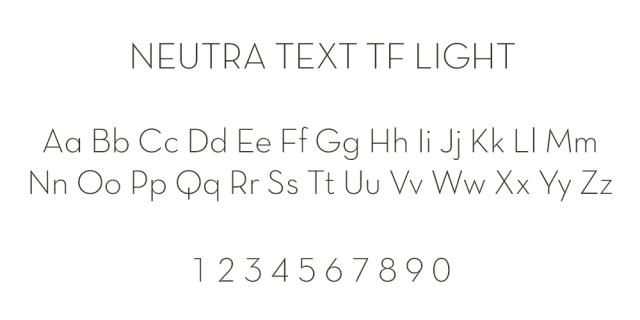 Neutra Font ABCs