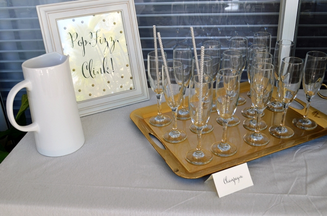Bridal Shower Champagne Table